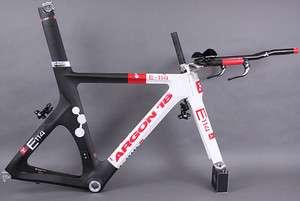2011 Argon 18 E 114 Frameset SRAM 8 piece Red Black TT Time Trial