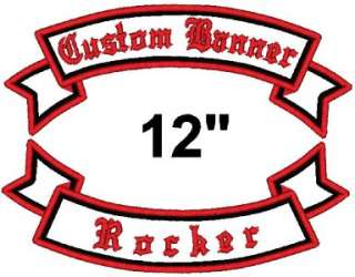Custom Embroidered Motorcycle Banner Rocker Patch 12