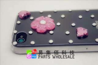 Nice Flowers Bling Crystal iphone 4G 4S Cover/Case Elegant F05