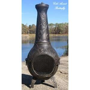 ALCH017GAGKLP Gas Powered Butterfly Chiminea Outdoor