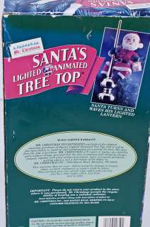 94 Mr Christmas Santas Lighted Animated Tree Top Display + Box