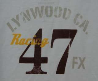 Brand New VON DUTCH White Short Sleeve Skull Lynwood California Shirt
