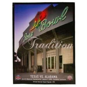 Texas Longhorns vs. Alabama Crimson Tide 2010 BCS National