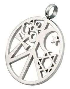 Coexist Peace Pendant Stainless Steel Coexist Necklace