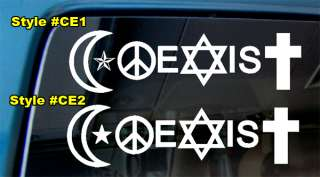 COEXIST HIPPIE PEACE ECO U2 ANTI WAR LOVE DECAL STICKER