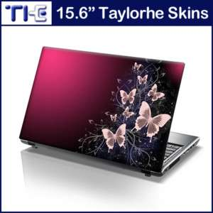 15.6 Laptop Skin Cover Sticker Decal pink butterflies