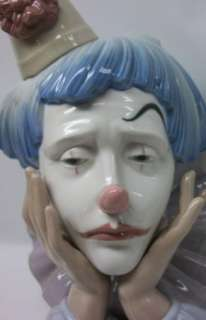 Lladro JESTER Sad Clown Head Bust #5129 Porcelain Figurine