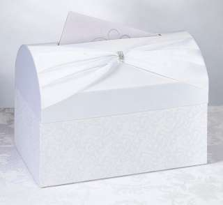 White Satin Wedding Card Box Holder Wishing Well