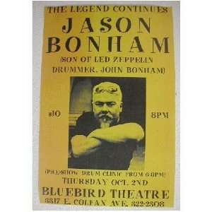 Jason Bonham Handbill Poster John of Led Zeppelin son