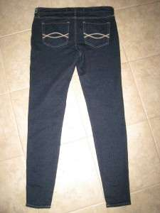 NWT 10 30 R Abercrombie & Fitch Jeans Legging Stretch Pants Dark Very
