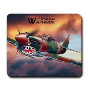 Curtiss P 40 Warhawk Military Mousepad by CafePress