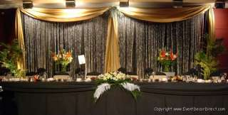 21ft Long Sheer Valance for Draping Wedding Backdrop, Party Drape