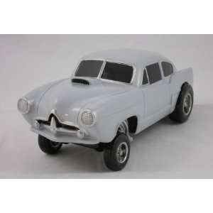 GASSER, SILVER, 118 SCALE MODEL, HOT ROD, STREET ROD, DRAG RACING CAR