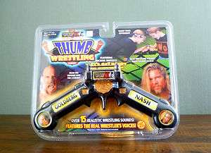 WCW NWO Goldberg Nash Electronic Thumb Wrestling Game  035112772170