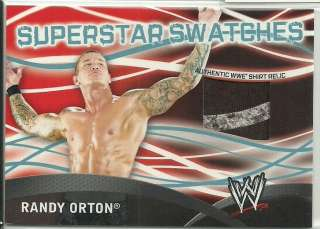 WWE Topps 2011 Superstar Swatches Shirt Relic Card Randy Orton 2 Color