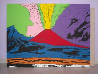 Quadro Pop art a mano Con un acquisto il 2° è in regalo Vesuvius