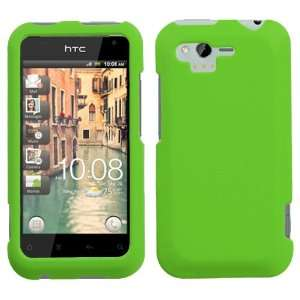 HTC Rhyme Rubberized Hard Case Cover   Green Cell Phones