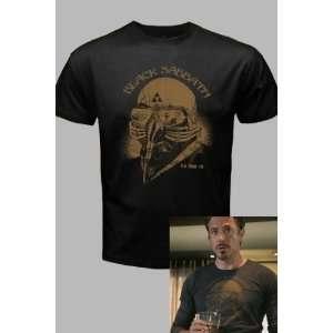 The Avengers Black Sabbath Iron Man Tony Stark T Shirt Tee