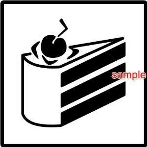 PORTAL CAKE WHITE VINYL DECAL STICKER