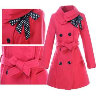 Fashion Womens Woolen Warm Winter Long Coat Jacket New