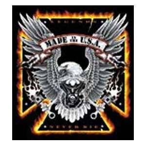 T shirts Biker Tough Enough Eagle Xl