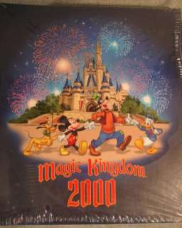 2000 Walt Disney World Photo Album Scrap Book MIP 80 Magnetic Pages