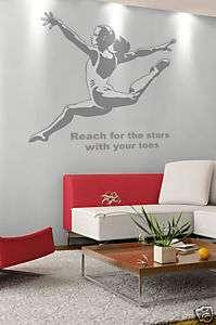 Gymnast Girls Kids Room Wall Art Decor Decal New