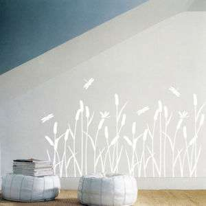 REEDS ★ Transparent Vinyl Art Wall Sticker Decal Window