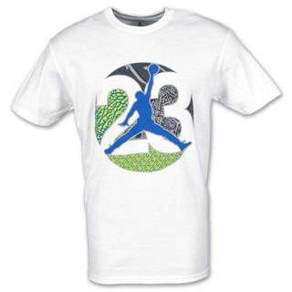NIKE AIR JORDAN 23 PRINTS Mens White Tee T Shirt Size S M L XL XXL