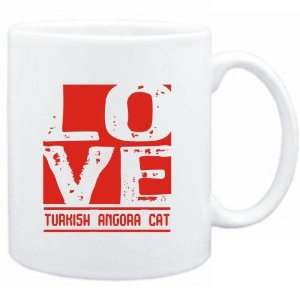 Mug White  LOVE Turkish Angora  Cats
