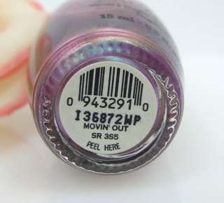 OPI Nail Polish Lacquer Movin Out Shiny Purple Lilac Shimmer NEW Free