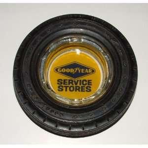 Vintage Goodyear Custom Super Cushion Tire Advertising Ashtray