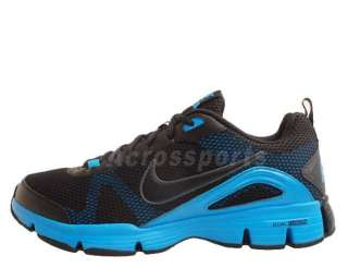 TR II Black Mesh Blue Glow Mens Cross Training Shoes 443819 004