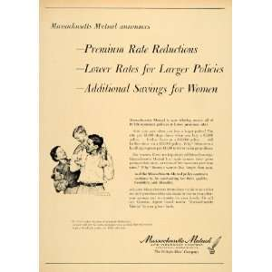 1957 Ad Massachusetts Mutual Insurance Kid Shoulder Ride Artist Norman