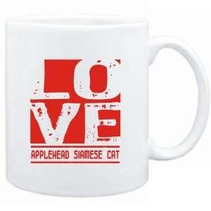 Mug White  LOVE Applehead Siamese  Cats  Sports