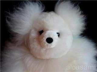 100% BABY ALPACA FUR TEDDY BEAR 12 PERU HANDMADE  TOY