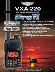 Vertex Standard VXA 220 Pro VI AIR BAND Handheld Radio