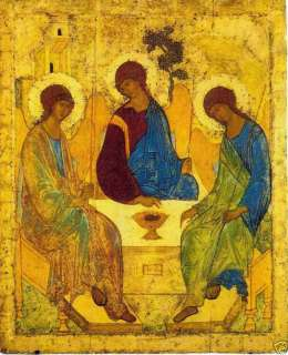 Andrei Rublev Holy Trinity 1410 icon R ussia canvas