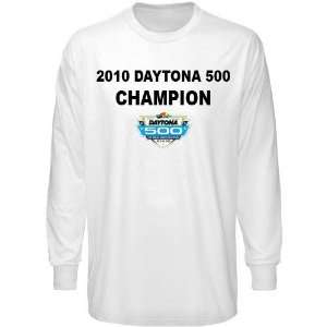 NASCAR Jeff Gordon White 2010 Daytona 500 Champion Long Sleeve T shirt