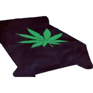 Marijuana Leaf Weed Pot Cannibis Blanket 2 Ply King in