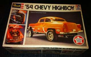 Original 54 CHEVY HIGHBOY Model Kit H 1375 1/25 Scale Sealed Box