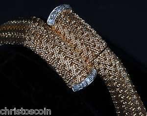 Vitage Ladies Omega 14K Solid Gold & Diamond Hidden Watch Bracelet