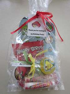 ANGRY BIRD Birthday Party Goody Treat Favor Bag Pre Filled Ready2Go