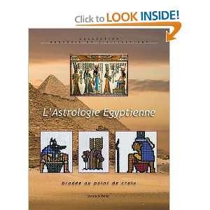 lastrologie égyptienne brodée au point de croix ; des