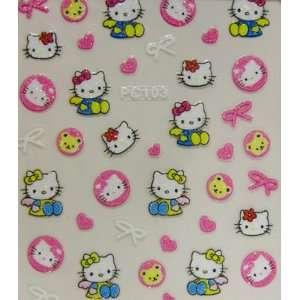 XH Hello kitty nai art sticker pink kitty with heart and