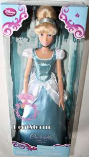 Store Release Princess CINDERELLA Singing Doll W/ UPDO HAIR NEW