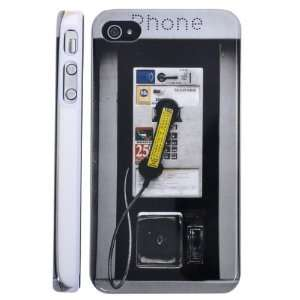 4S Hard Back Cover Public Phone Booth Design Case