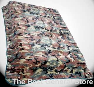 Super Soft Throw Blanket Camo Print fits Queen or King 024409978197
