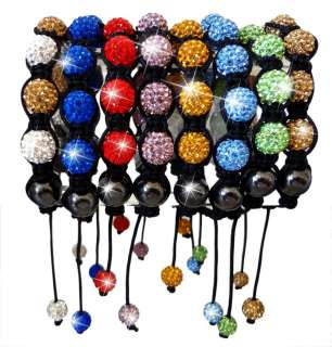 UnBranded Shamballa Paris Friendship Bracelet Disco Crystal Ball Bead