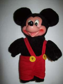 Vtg Applause Mickey Mouse Plush Rubber Face Stuffed Doll #8528 9 Tall